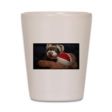 Ferret love Shot Glass