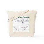 Quadratic Formula Tote Bag
