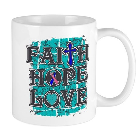 Thyroid Cancer Faith Hope Love Mug