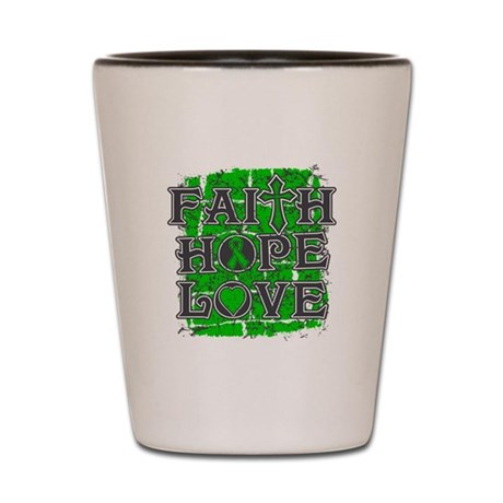 TBI Faith Hope Love Shot Glass