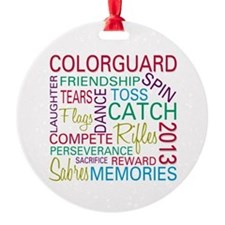 Colorguard Holiday / Christmas Ornament