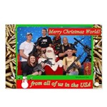 Gun Christmas Postcards (Package Of 8)