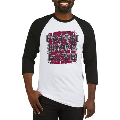 Throat Cancer Faith Hope Love Baseball Jersey