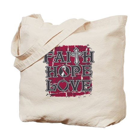 Throat Cancer Faith Hope Love Tote Bag