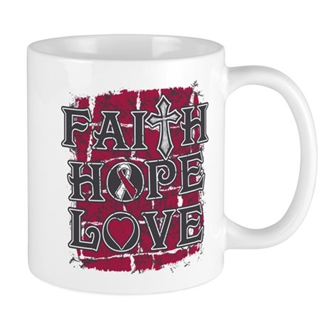 Throat Cancer Faith Hope Love Mug