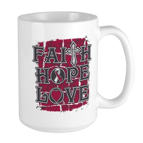 Throat Cancer Faith Hope Love Large Mug