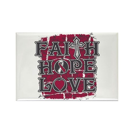 Throat Cancer Faith Hope Love Rectangle Magnet