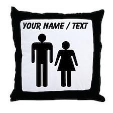 Custom Man And Woman Throw Pillow