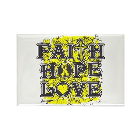 Testicular Cancer Faith Hope Love Rectangle Magnet