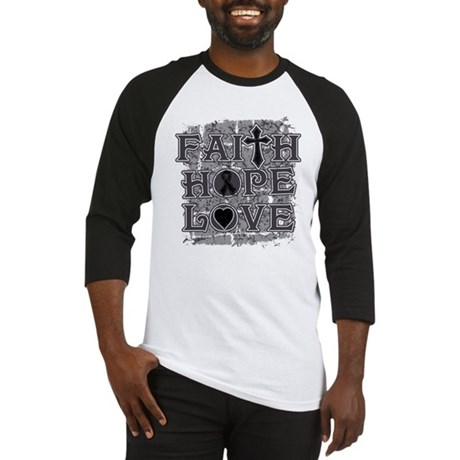 Skin Cancer Faith Hope Love Baseball Jersey