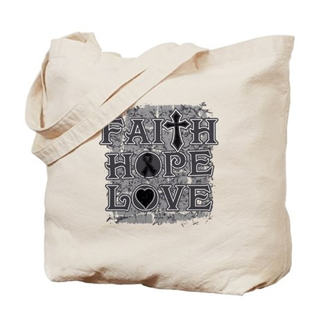 Skin Cancer Faith Hope Love Tote Bag