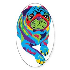 Rainbow Pug Decal