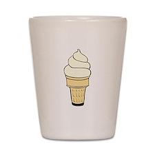 Vanilla Ice Cream Cone Shot Glass