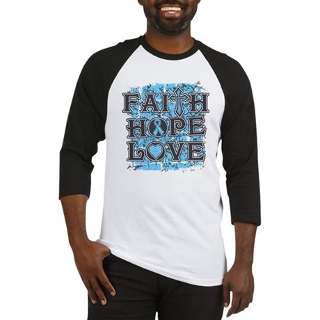 Prostate Cancer Faith Hope Love Baseball Jersey