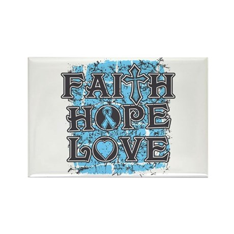 Prostate Cancer Faith Hope Love Rectangle Magnet