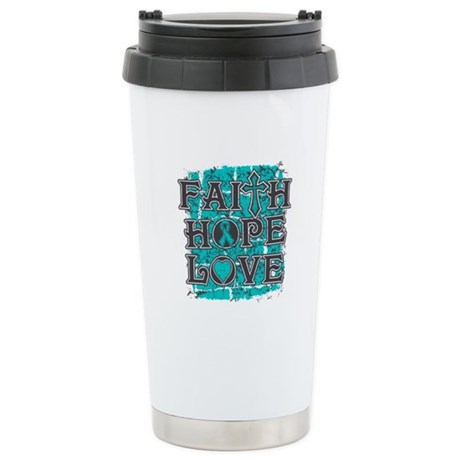 PKD Faith Hope Love Stainless Steel Travel Mug