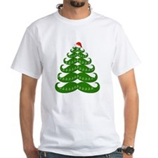 Mustache Christmas Tree with Sant Shirt
