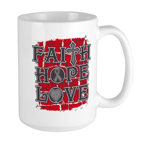 Parkinsons Disease Faith Hope Love Large Mug