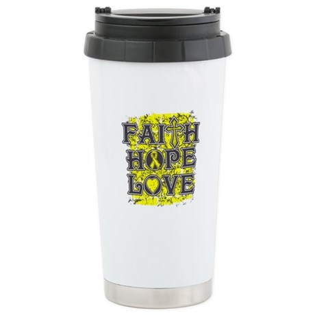 Osteosarcoma Faith Hope Love Stainless Steel Trave