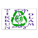 Tikkun Olam Recycle Rectangle Decal
