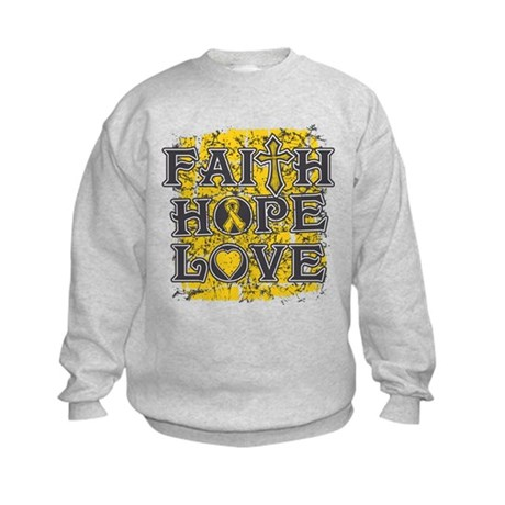 Neuroblastoma Faith Hope Love Kids Sweatshirt