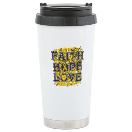 Neuroblastoma Faith Hope Love Stainless Steel Trav