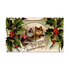 Vintage Christmas - With Best Rectangle Car Magnet