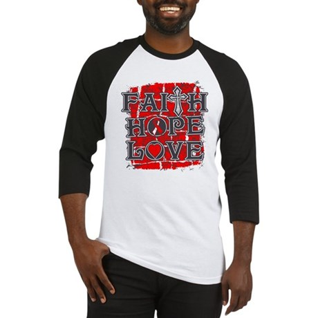 Oral Cancer Faith Hope Love Baseball Jersey