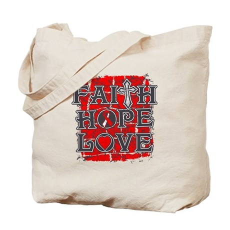 Oral Cancer Faith Hope Love Tote Bag
