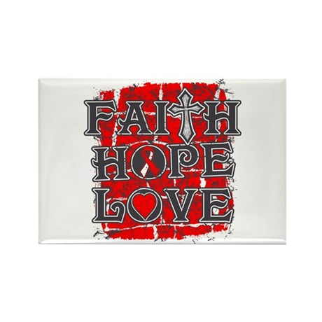 Oral Cancer Faith Hope Love Rectangle Magnet