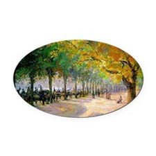 Hyde Park, London--Painting by Cam Oval Car Magnet