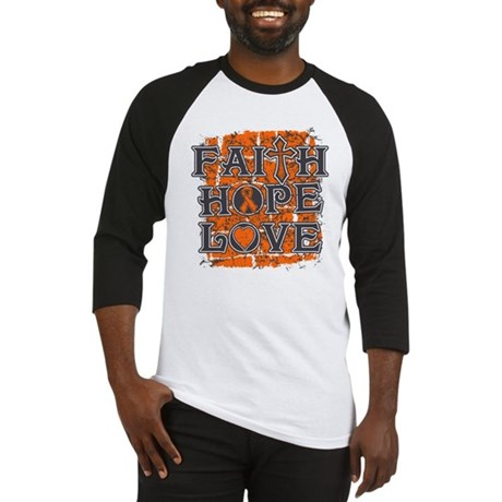 Multiple Sclerosis Faith Hope Love Baseball Jersey