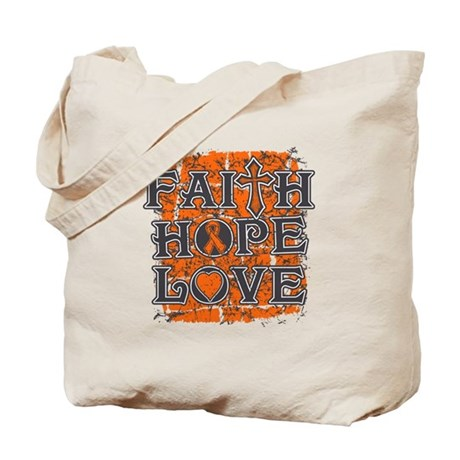 Multiple Sclerosis Faith Hope Love Tote Bag