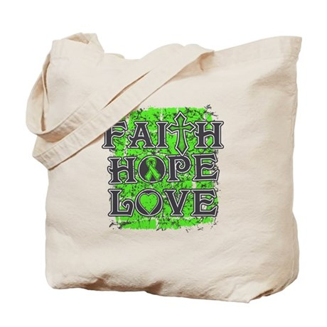 Non-Hodgkins Lymphoma Faith Hope Love Tote Bag