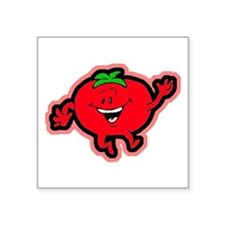 Dancing Tomato Rectangle Sticker