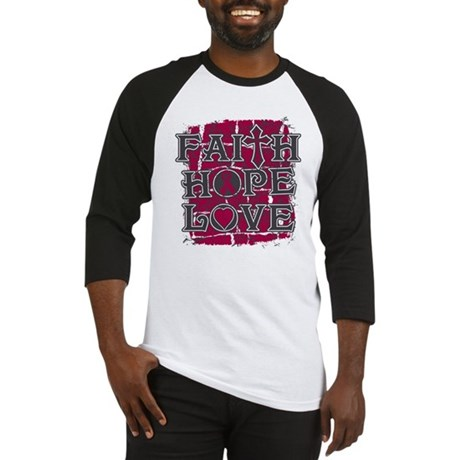 Multiple Myeloma Faith Hope Love Baseball Jersey