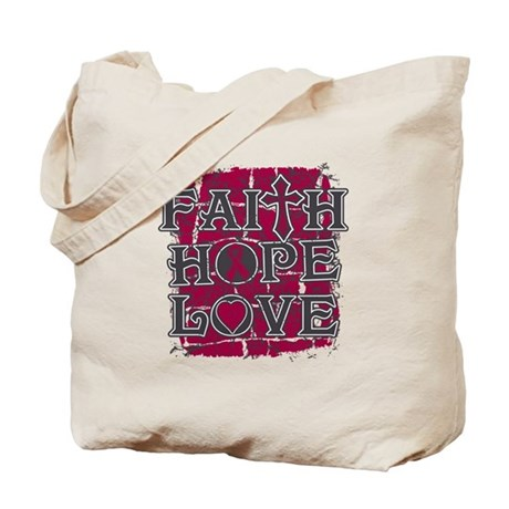 Multiple Myeloma Faith Hope Love Tote Bag
