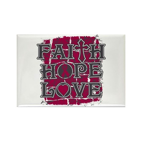 Multiple Myeloma Faith Hope Love Rectangle Magnet