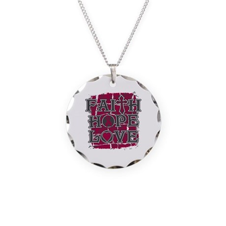 Multiple Myeloma Faith Hope Love Necklace Circle C