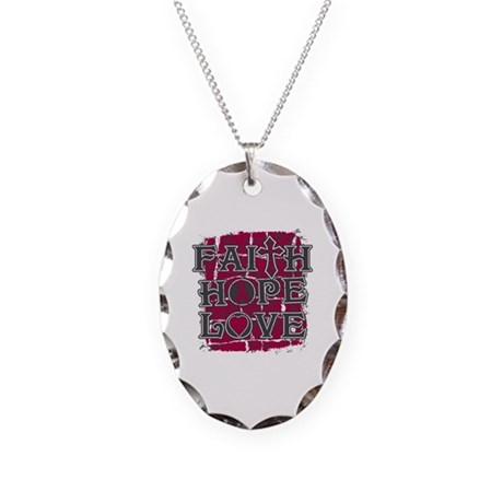 Multiple Myeloma Faith Hope Love Necklace Oval Cha