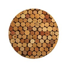 "Wine Corks 6 3.5"" Button"