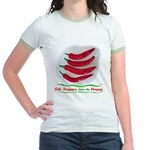 Chili Peppers Make Me Happy Jr. Ringer T-Shirt