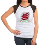 Chili Peppers Make Me Happy Women's Cap Sleeve T-S