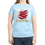 Chili Peppers Make Me Happy Women's Light T-Shirt
