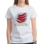 Chili Peppers Make Me Happy Women's T-Shirt
