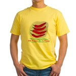 Chili Peppers Make Me Happy Yellow T-Shirt