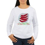 Chili Peppers Make Me Happy Women's Long Sleeve T-