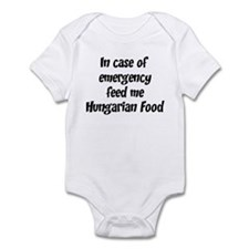 Feed me Hungarian Food Infant Bodysuit
