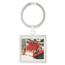 Delta Queen Square Keychain