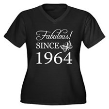 Fabulous Since 1964 Women's Plus Size V-Neck Dark